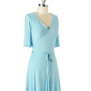 Modcloth Gilli Wrap Dress - Robin's Egg Blue